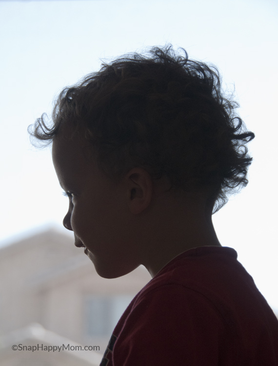 silhouette of curls