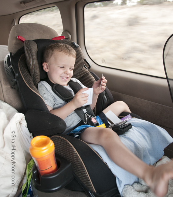 boy in carseat
