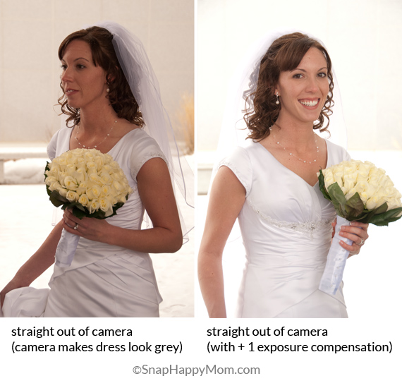 How to use exposure compensation on a bride
