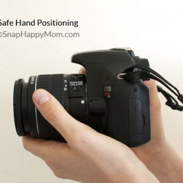 The proper way to hold a camera