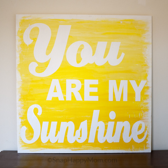 Painted wood sign you are my sunshine
