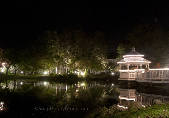 picture of gazebo at night