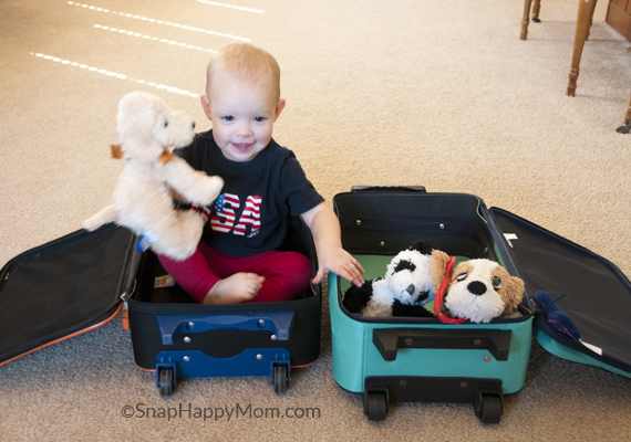 Wordless Wedsnesday: Playing WIth Suitcases