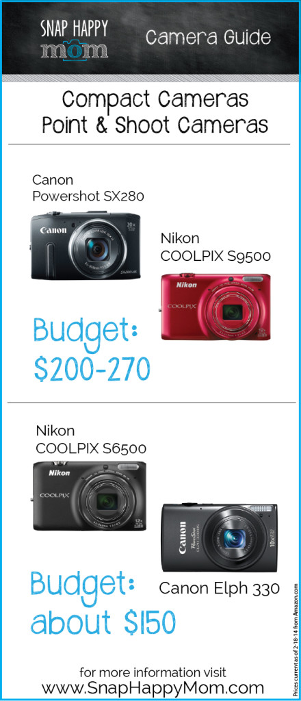 Compact Camera Buying Guide - www.SnapHappyMom.com