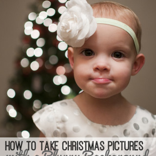 How To Take Christmas Tree Portraits with a Blurry Background