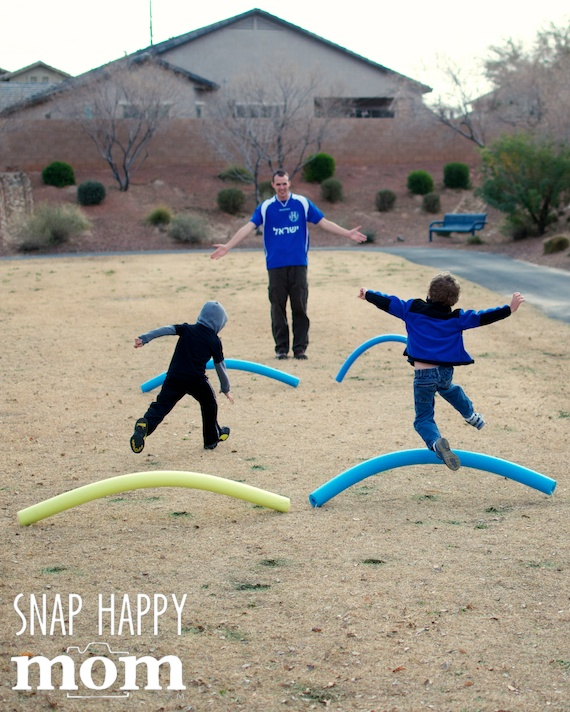 Olympics Birthday Party from SnapHappyMom.com - Hurdles for the Summer Olympics