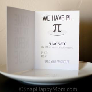 Pi Day Invitations – Free Download