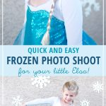 Quick and Easy Frozen Photo Shoot - Here's how you can painlessly create a Frozen-inspired area in less than ten minutes to take some pictures of a little Elsa. It's quick, easy, and cheap...but it adds just the right amount of special to that photo! - from SnapHappyMom.com