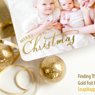 Holiday Cards – Finding the Perfect Gold-Foil Design