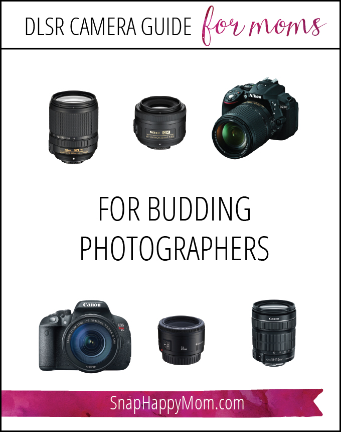 DSLR Camera Guide For Moms - What To Get For Budding Photographers - SnapHappyMom.com