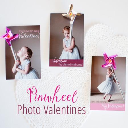 Pretty Pinwheel Photo Valentines - SnapHappyMom.com