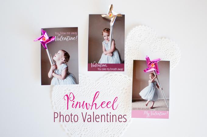Pretty Pinwheel Photo Valentines - SnapHappyMom.com
