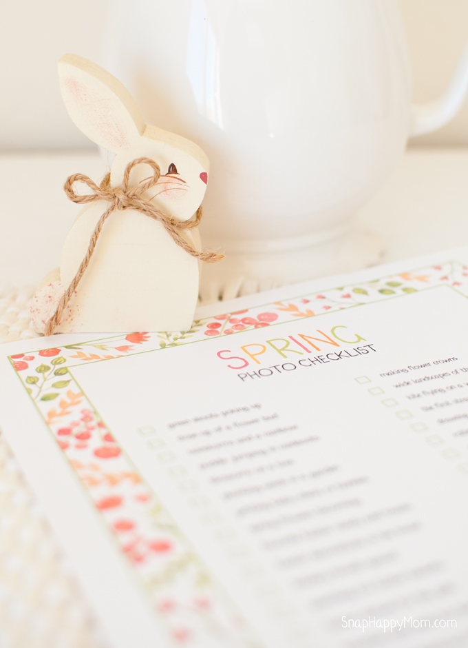 Spring Photo Checklist - a free printable from SnapHappyMom.com