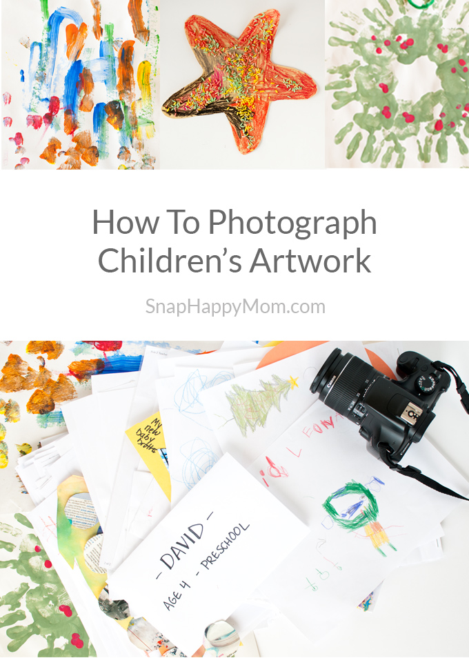 how to photograph children s artwork