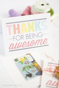 Thanks for Being Awesome Cards