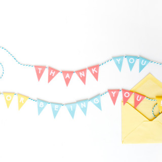 """Thank You"" Mini Bunting Banner [Free Printable]"