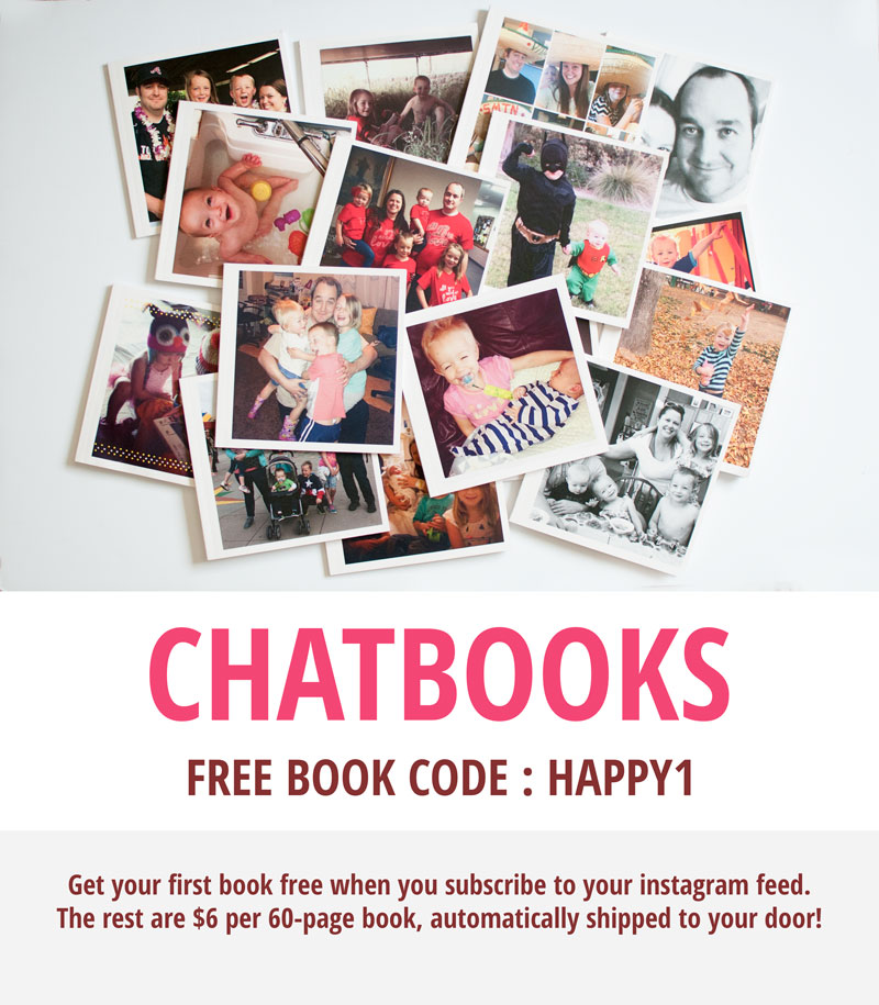 Chatbooks Code: HAPPY1 to get your first book free