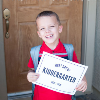 Tips For First Day of School Photos
