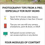 Moms Guide To Better Photos - A SnapHappyMom.com photography course