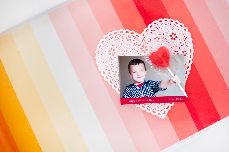 3-D Lollipop Photo Valentines - Three tips for how to take the perfect photo for 3-D Lollipop Valentines, and a tutorial for how to assemble them! From SnapHappyMom.com