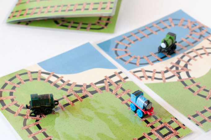 Mini Train Play Mat Printables