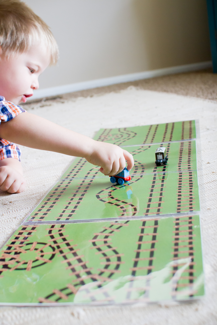 Mini Train Play Mat Printable