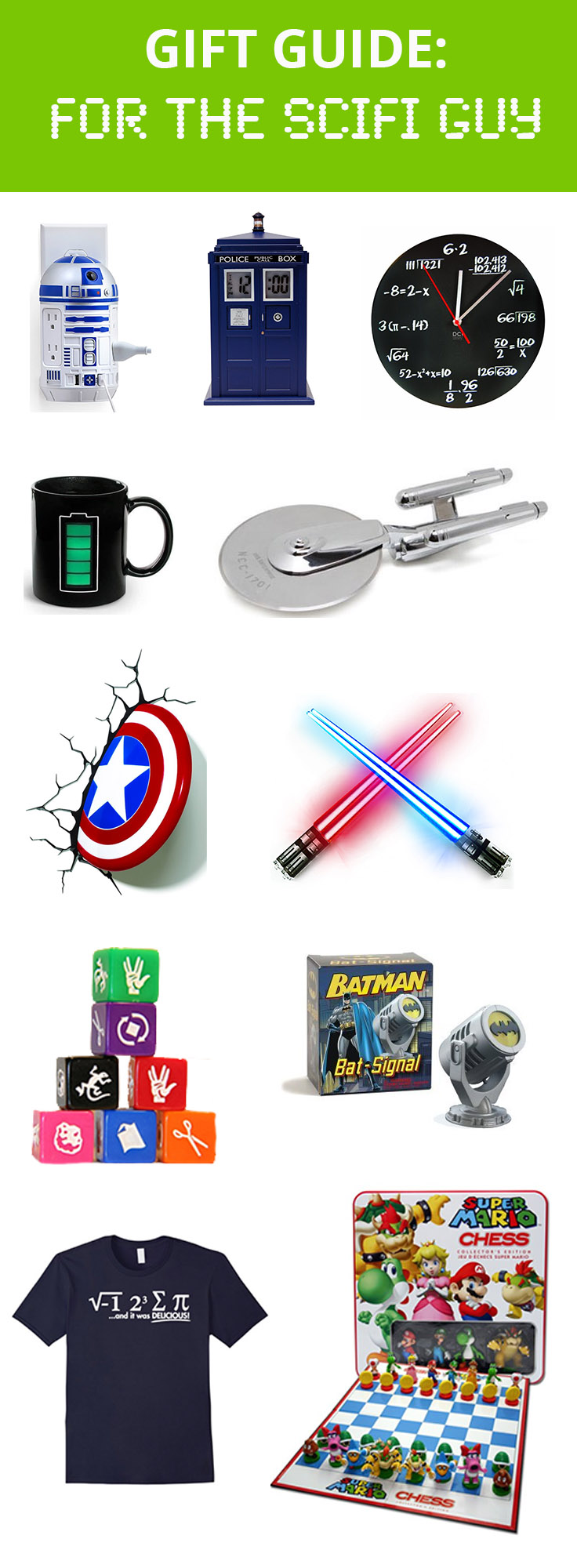 Gift guide for him: Your Sci-Fi Guy