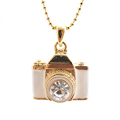 Gold and White Pendant - Photographer Gifts