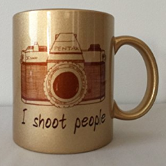 Gold Camera Mug - Photographer Gift