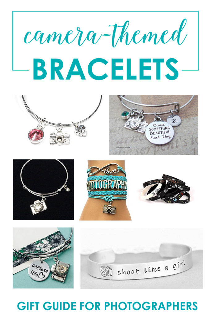 Camera-Themed Bracelets - Gift Guide For Women Who Love Photography