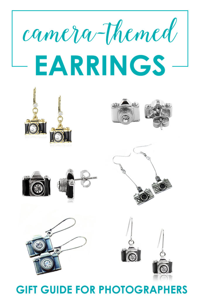 Camera-Themed Earrings - Gift Guide For Women Who Love Photography