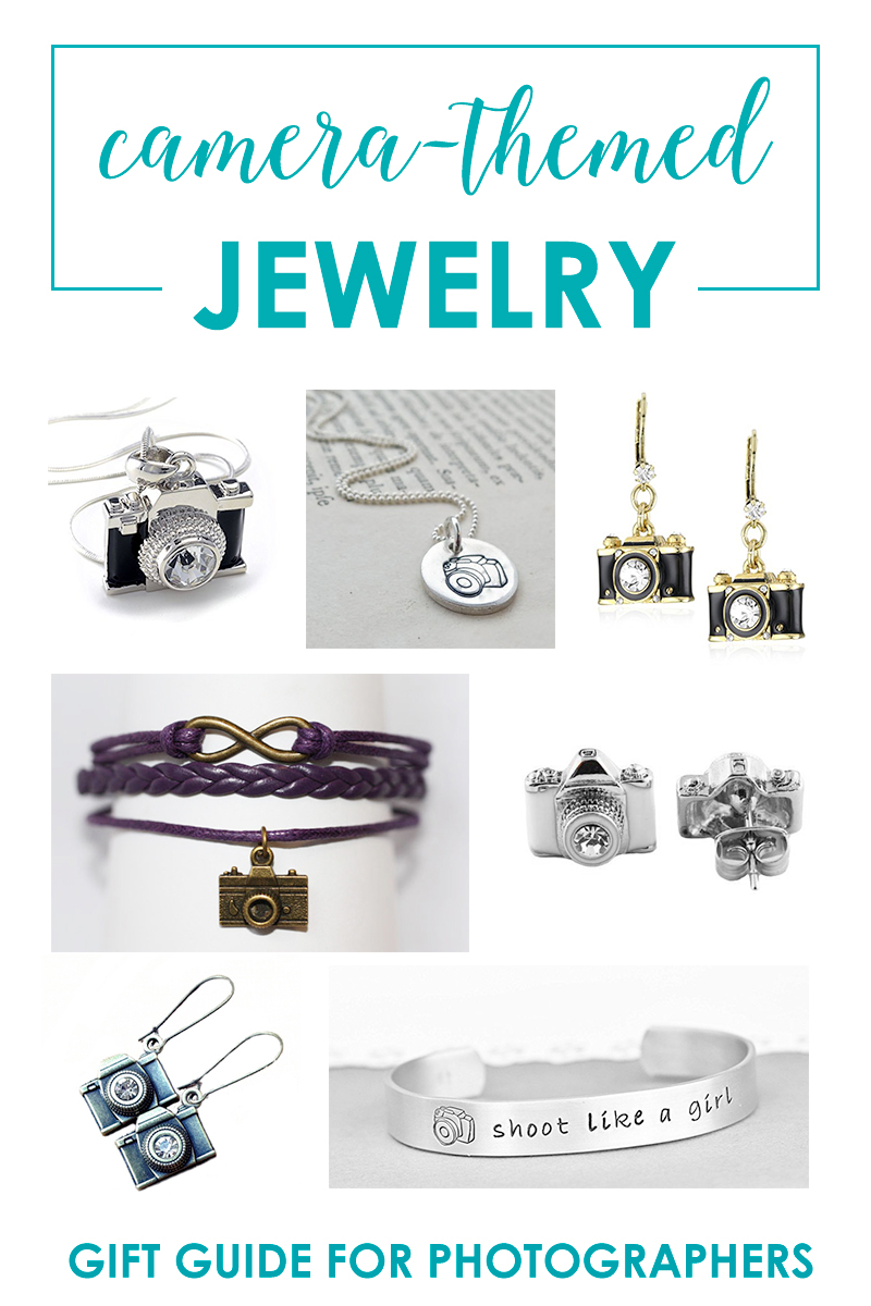 Vintage style camera earrings photographer gifts