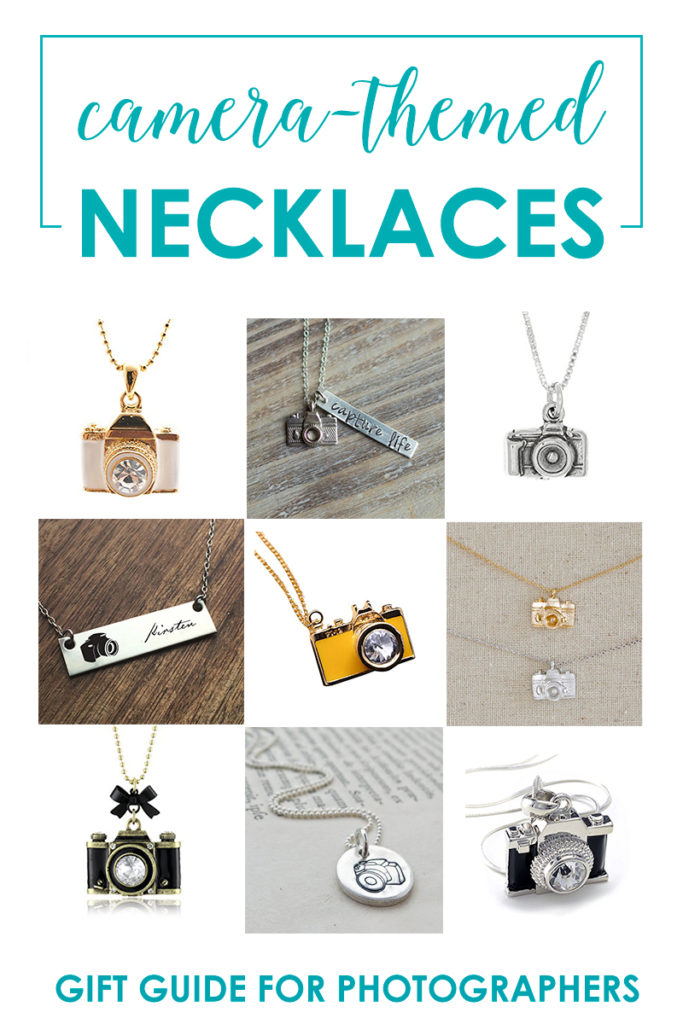 Camera-Themed Necklaces - Gift Guide For Women Who Love Photography