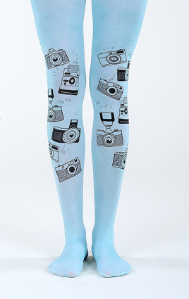 Blue Camera Tights - Gifts for Photographers