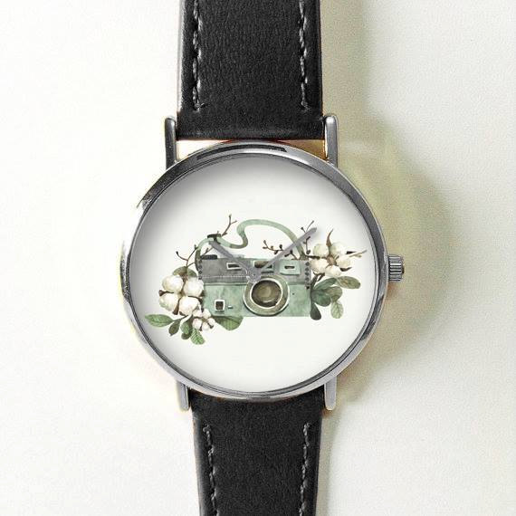 Camera and Flower Watch - Gifts for Photographers