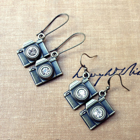 Two Types of Camera Earrings - Photographer Gifts