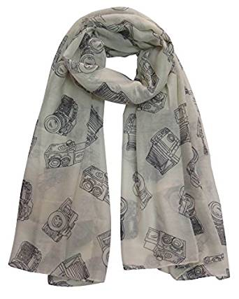 Camera Print Scarf - Gifts for Photographers