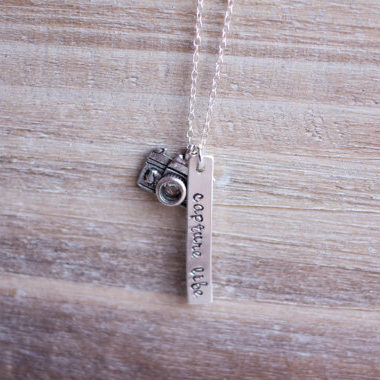 Capture Life Bar Necklace - Photographer Gifts