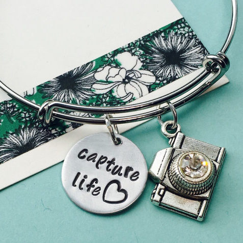 Capture Life Charm Bracelet - Photographer Gifts