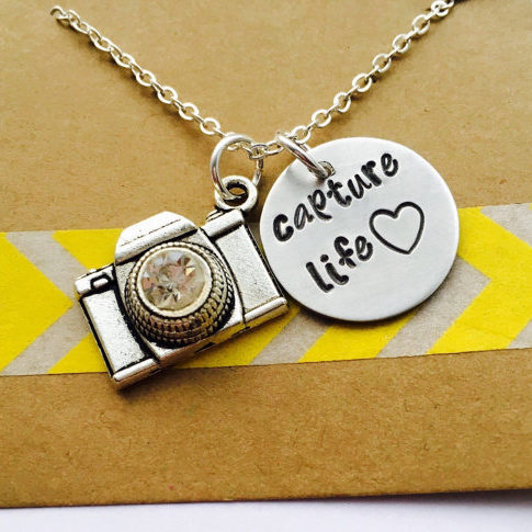 Capture Life Necklace - Photographer Gifts