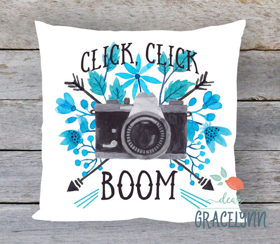 Click Click Boom Pillow - Gifts for Photography Lovers