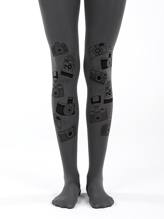 Grey Camera Tights - Gifts for Photographers