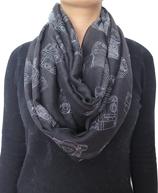 Camera Print Infinity Scarf - Gifts for Photographers