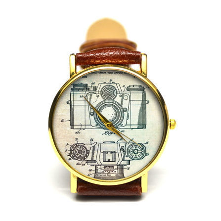 Vintage Camera Watch - Gifts for Photographers