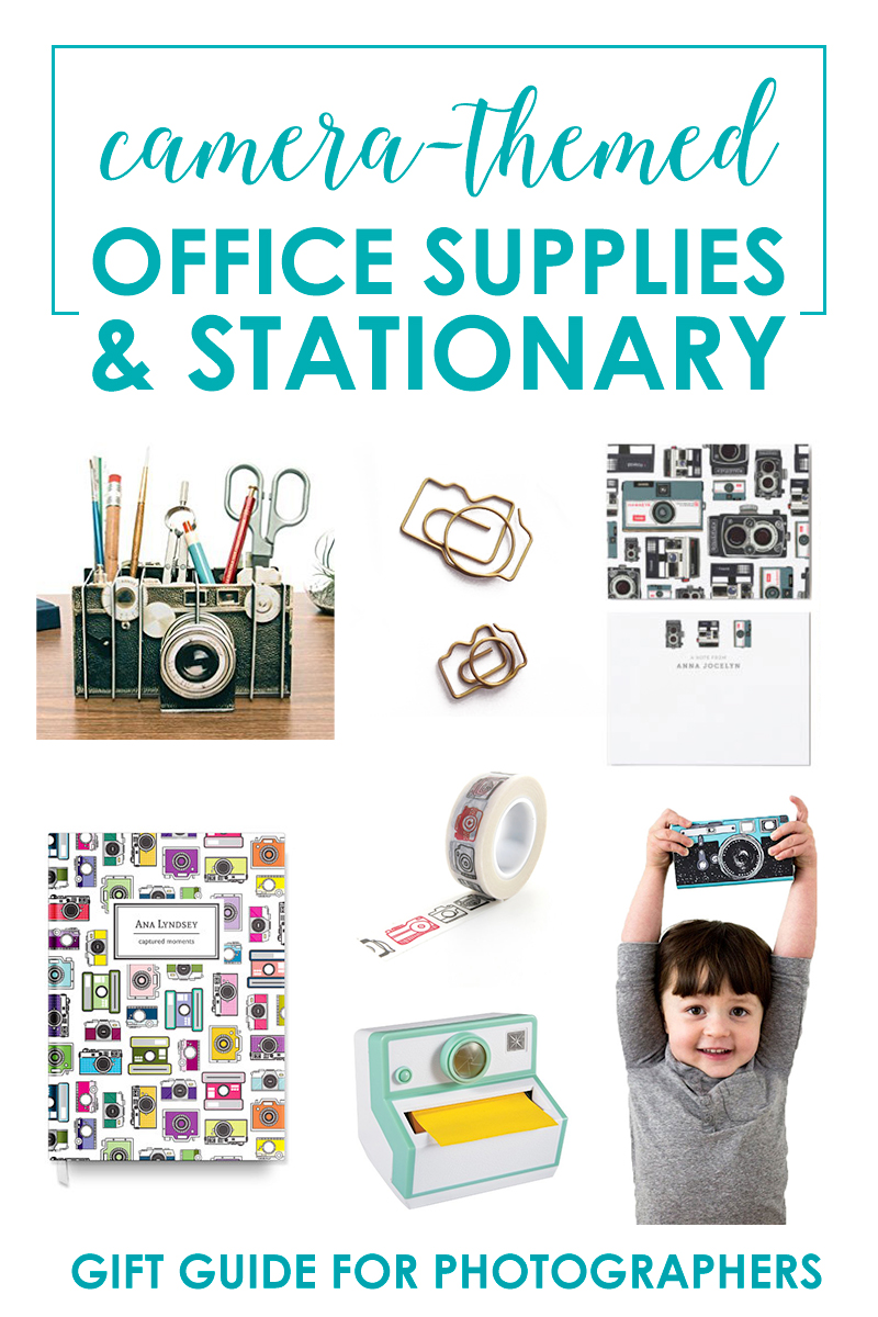Camera-Themed Office Supplies and Stationary for Photography-Lovers!
