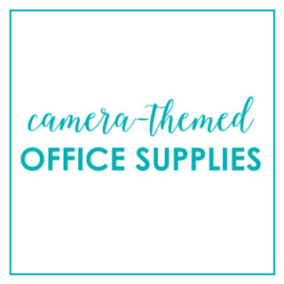 Camera-Themed Office Supplies, Stationary, & Paper Goods