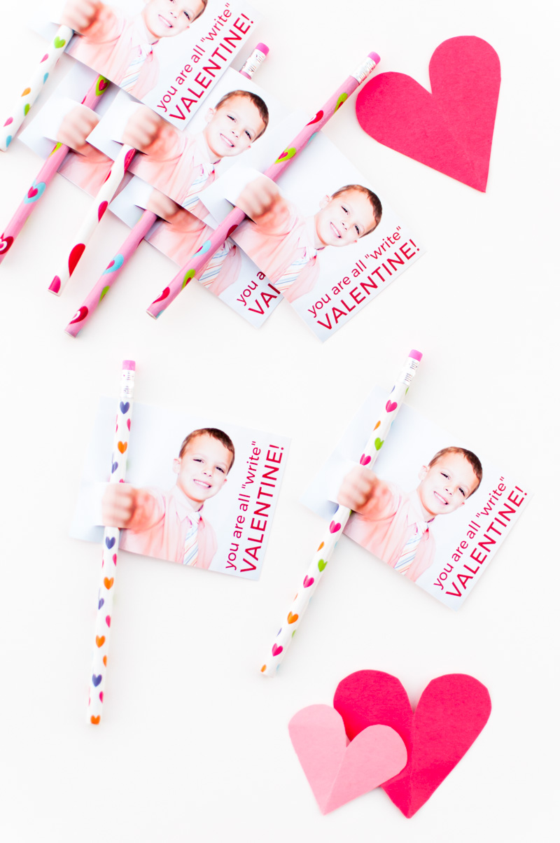 "You're All ""Write"" Valentine! - a tutorial for DIY Valentines - SnapHappyMom.com"