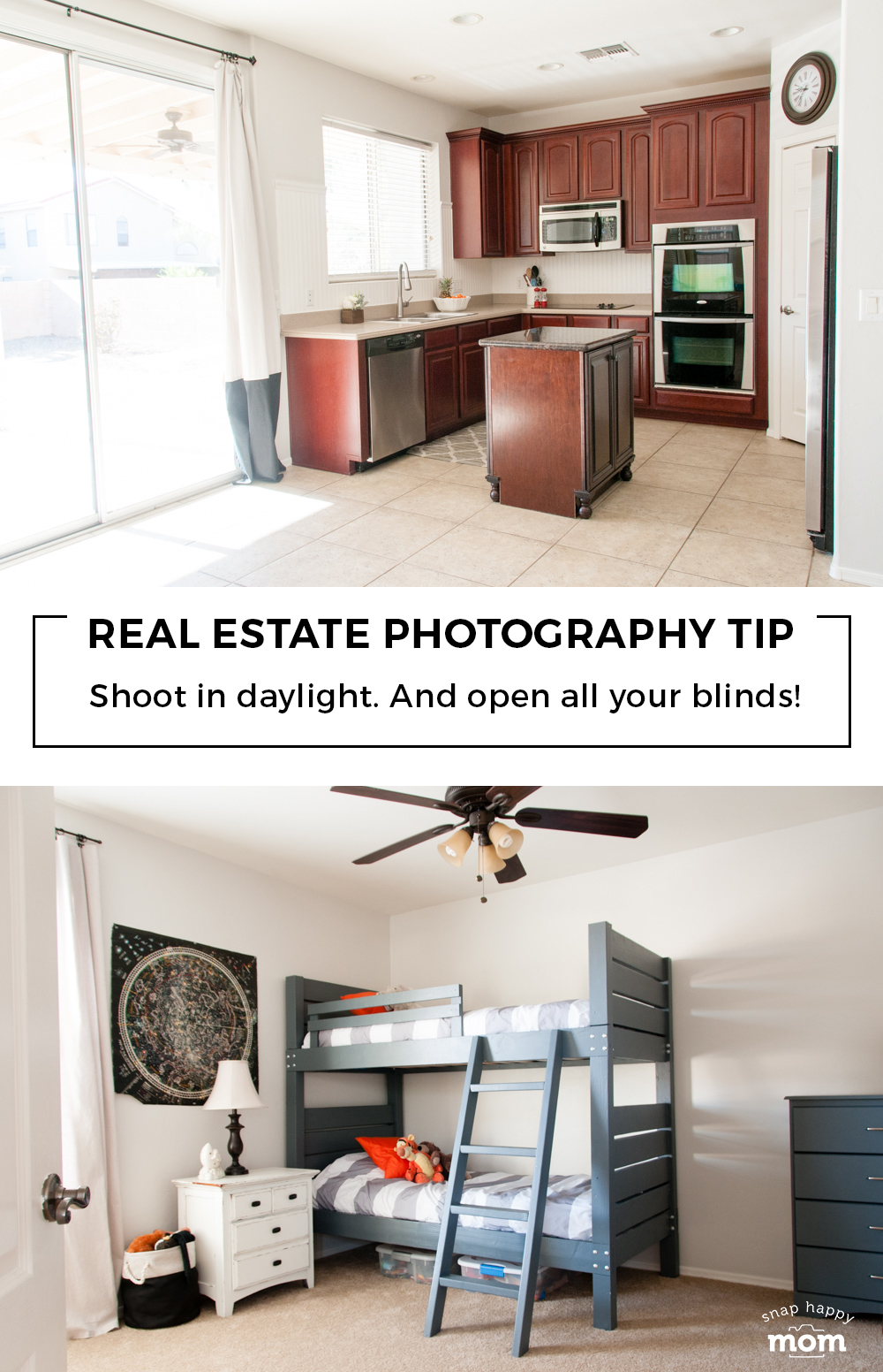 Real Estate Photography Tip: Use daylight for the most flattering light in your home.