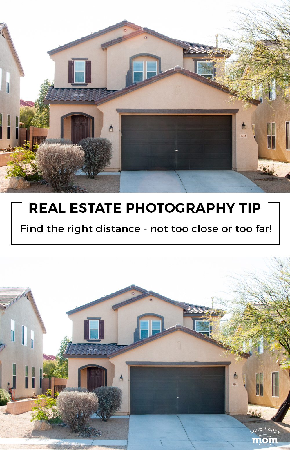 Tips for taking your own real estate photos: Find the right distance for outdoor pictures!