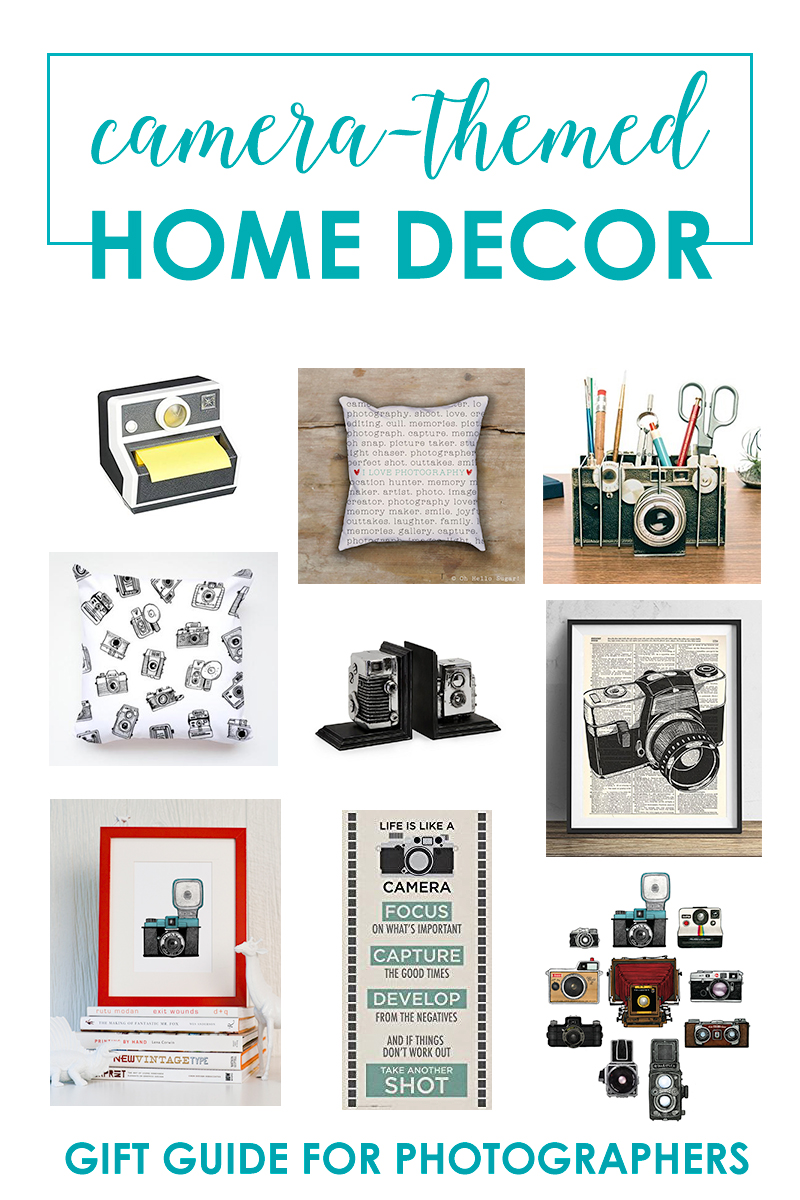 Camera Themed Home Decor Gifts For Photography Lovers Snap Happy Mom